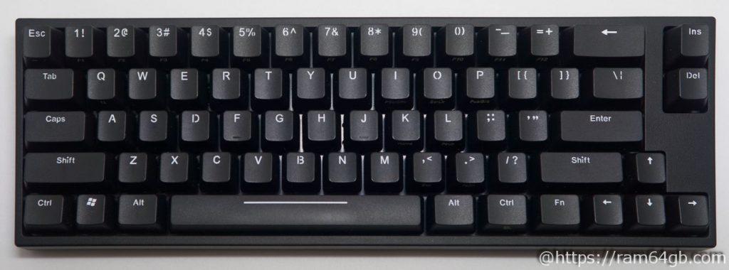 コンパクト型メカニカルキーボード